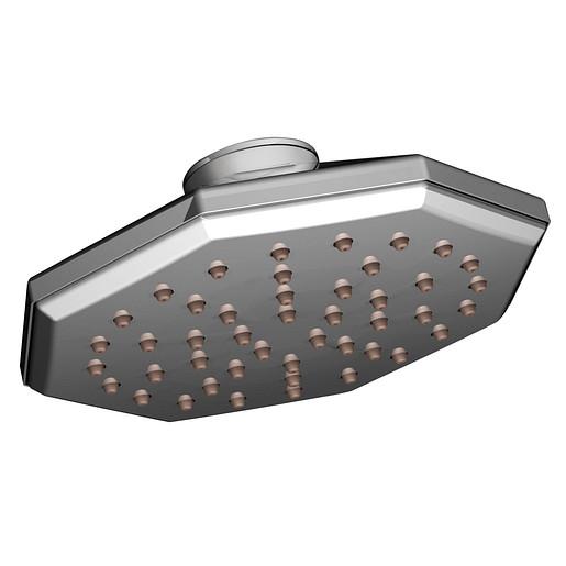 "Felicity Chrome One-Function 7"" Diameter Spray Eco-Performance Rainshower Showerhead"