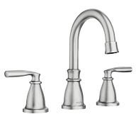 Hilliard Spot Resist Brushed Nickel Two-Handle High Arc Bathroom Faucet