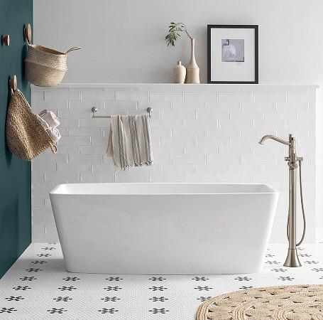 2oclock Belfield Brushed Nickel One-Handle Tub Filler Includes Hand Shower