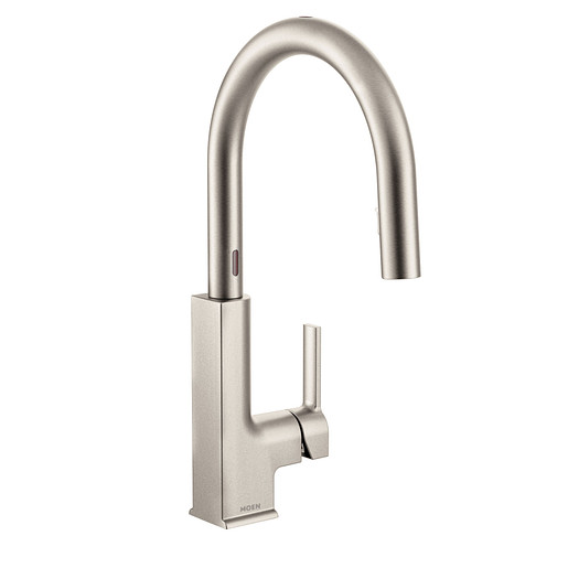 STO Spot Resist Stainless One-Handle High Arc Pulldown Kitchen Faucet