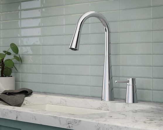 Chrome has a shiny finish that's durable, affordable and easy to maintain