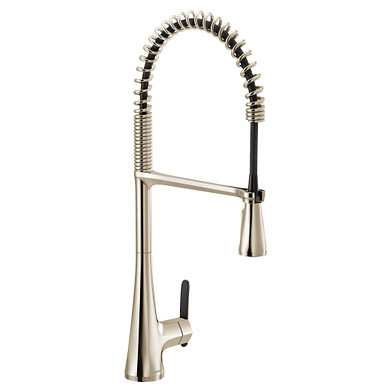 Moen Sinema Polished Nickel One-Handle High Arc Pulldown Kitchen Faucet