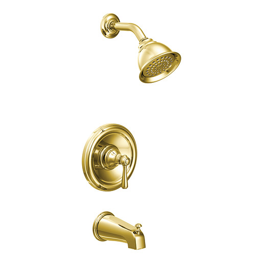 Kingsley Polished brass Posi-Temp® Tub/Shower