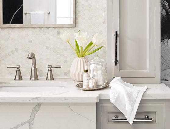 Halle brushed nickel bathroom sink faucet