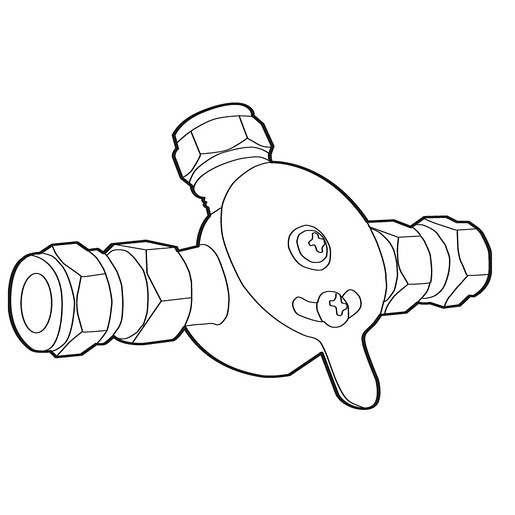 Commercial Mixing Valve With Check Valves