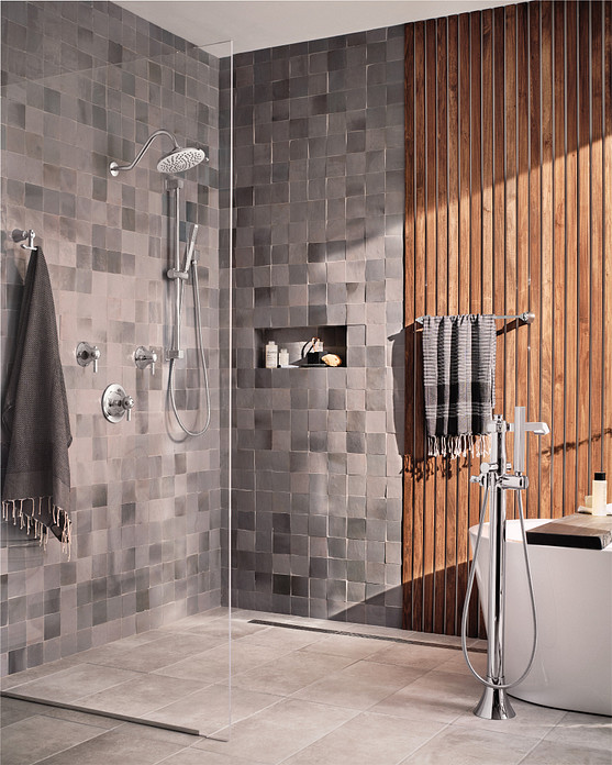 Install a walk in shower for convenience