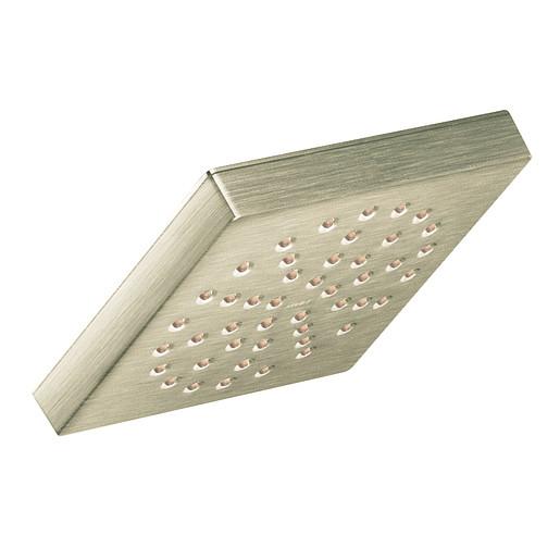 """Moen Brushed Nickel One-Function 4 3/8"""" Diameter Spray Head Eco-Performance Showerhead"""