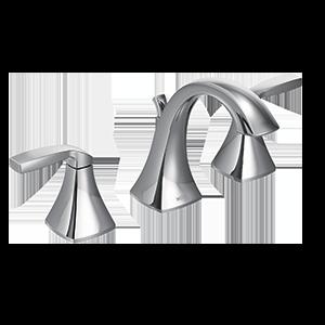 Voss Chrome Two-Handle High Arc Bathroom Faucet
