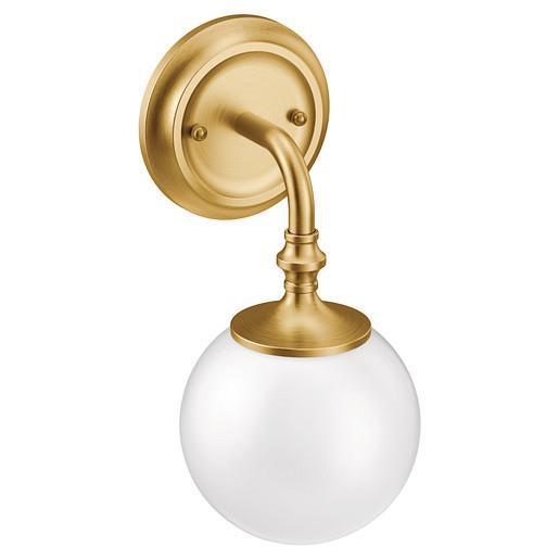 Colinet Brushed gold one globe bath light