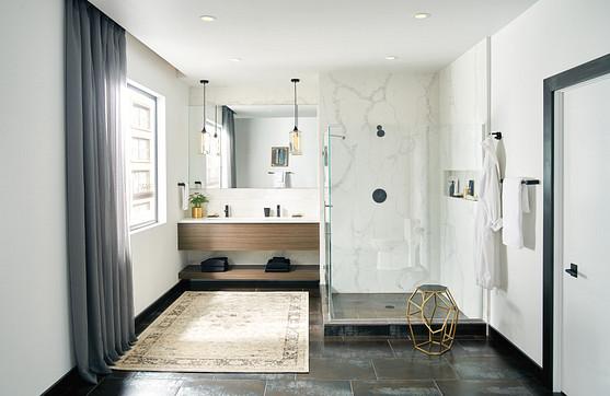 Align Matte Black One-Handle High Arc Bathroom Faucet