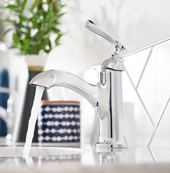 Hilliard Chrome One-Handle High Arc Bathroom Faucet