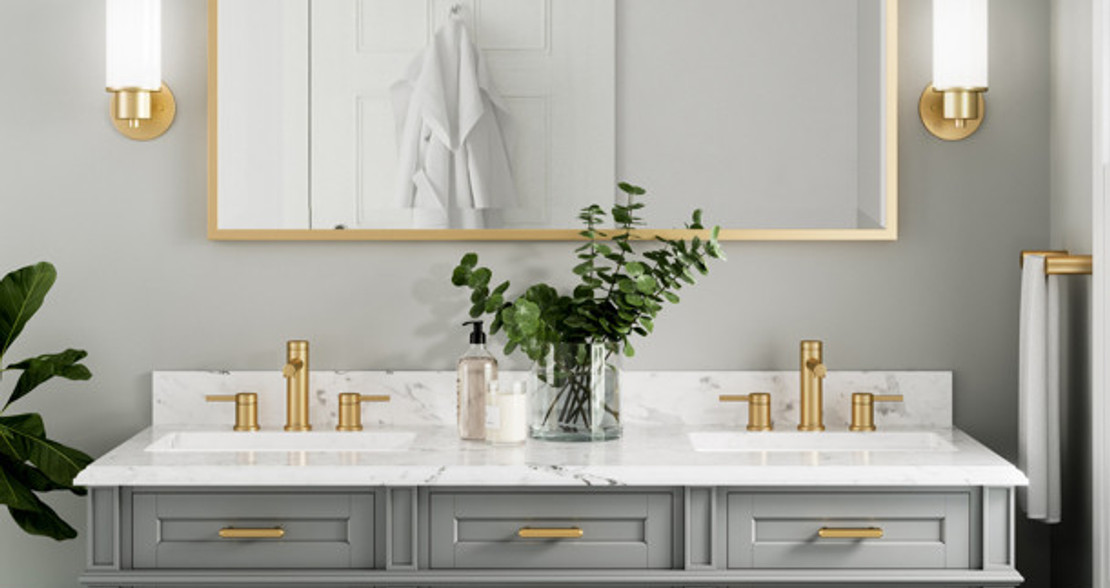 Moen Brushed Gold Bathroom Faucets & Hardware