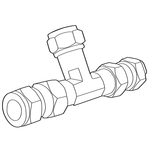 Commercial Mixing Tee With Check Valves
