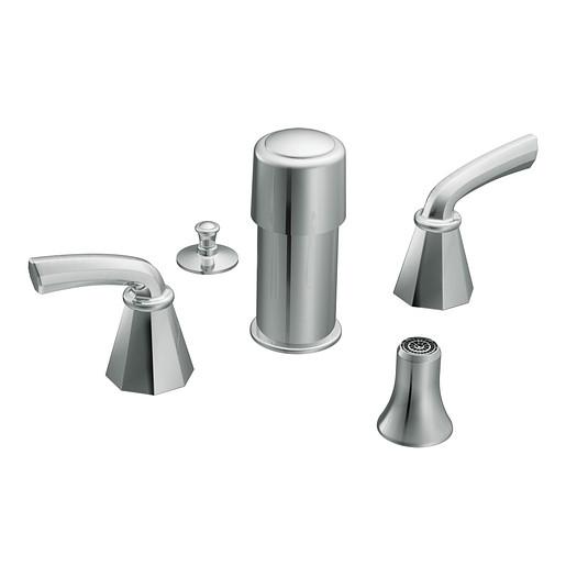 Felicity Chrome two-handle bidet faucet