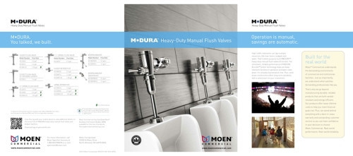 Mdura Manual Flush Valve Brochure