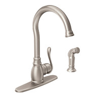 Anabelle Spot Resist Stainless One-Handle High Arc Kitchen Faucet