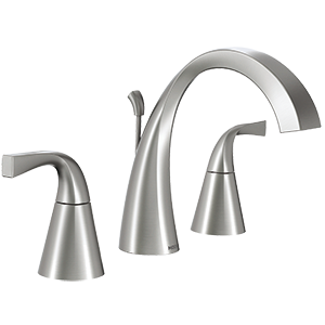 Oxby Spot Resist Brushed Nickel Two-Handle High Arc Bathroom Faucet 84661srn