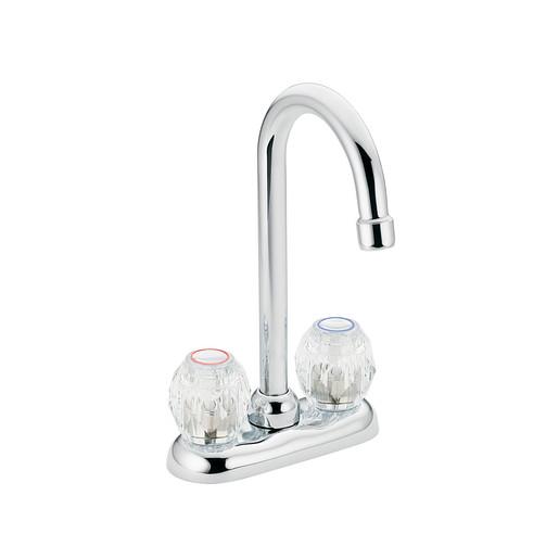 Chateau Chrome two-handle high arc bar faucet