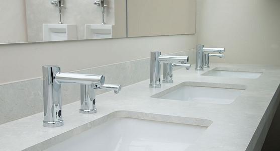 Align Below Deck Sensor Operated Modern Faucet and Soap Dispenser