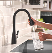Arbor Matte Black Pulldown Kitchen Faucet