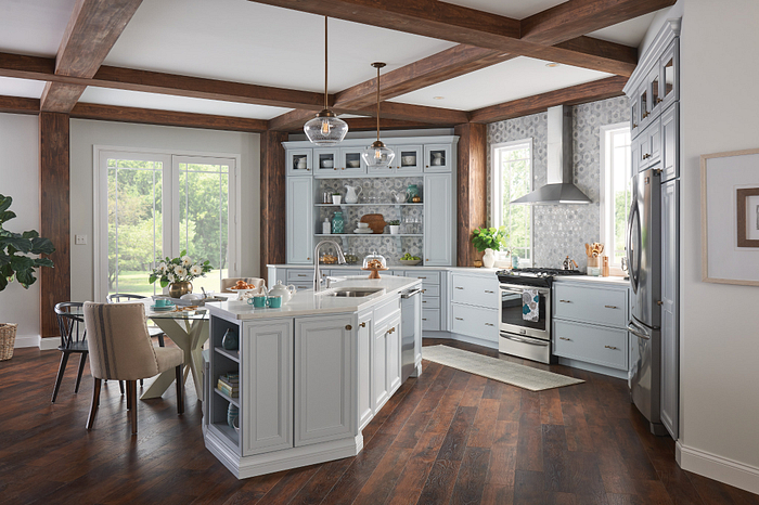 Kitchen with the Tullis Pulldown Faucet