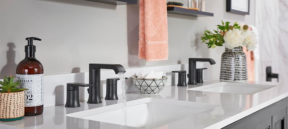 Black matte sink faucet