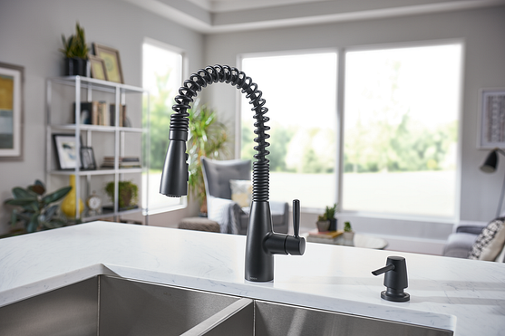 Springvale Matte Black 87998bl Pulldown Kitchen Faucet