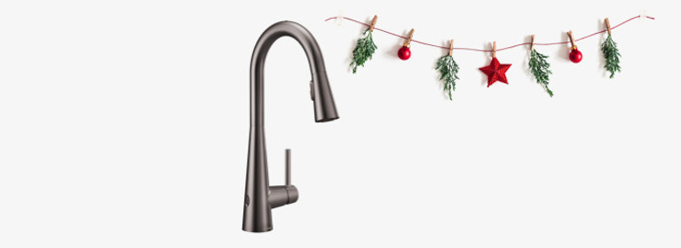 Clean and cylindrical - Sleek Black Stainless Kitchen Faucet 7864EWBLS