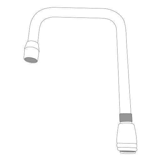 """Moen M-DURA Chrome Commercial Spout (12.7""""L x 7.1""""W x 3.25""""H)"""