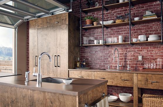Plancher de bois franc naturel pour la décoration intérieure des maisons de campagne