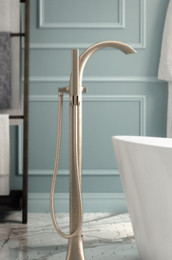 Voss Brushed Nickel Tub Faucet