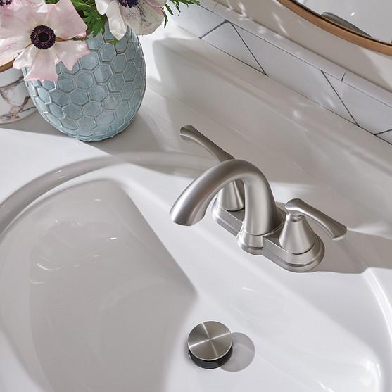 Tiffin Spot Resist Brushed Nickel Centerset Bathroom Faucet