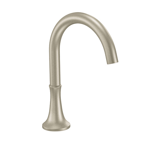 Icon Brushed nickel high arc roman tub faucet includes IoDIGITAL® technology