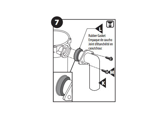 Install the new discharge elbow
