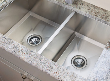 Top View Double Bowl Undermount Stainless Steel Kitchen Sink