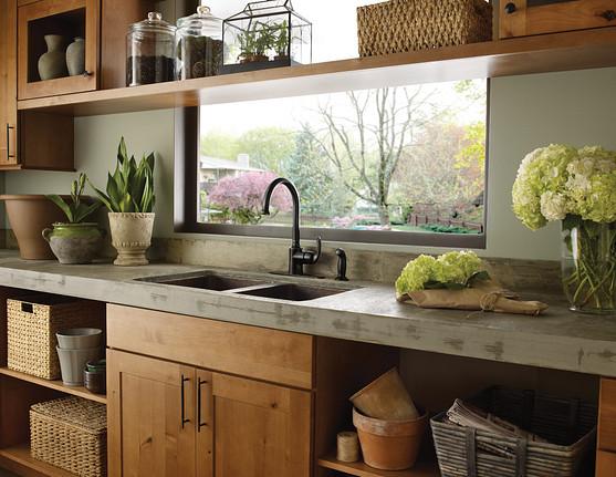 Bayhill Mediterranean Bronze One-Handle High Arc Kitchen Faucet 87301BRB