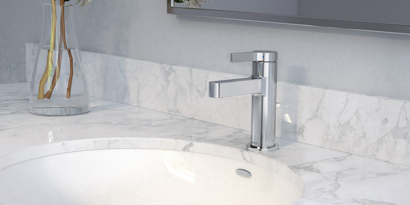 Vichy Chrome One Handle Bathroom Faucet