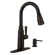 Coretta Mediterranean Bronze One-Handle Pulldown Kitchen Faucet