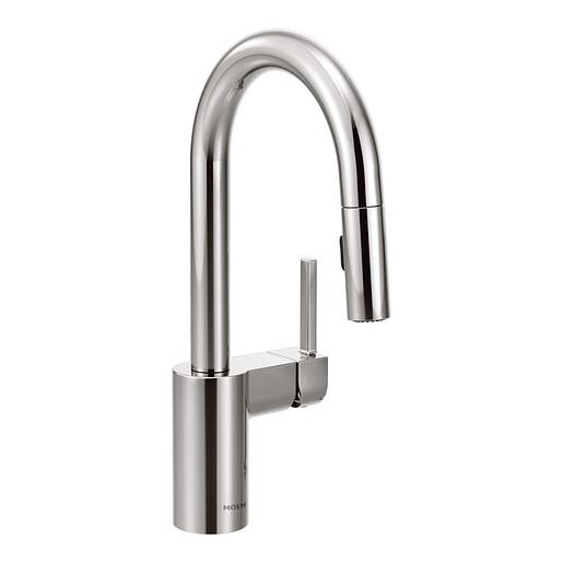 Align Chrome One-Handle High Arc Pulldown Bar Faucet