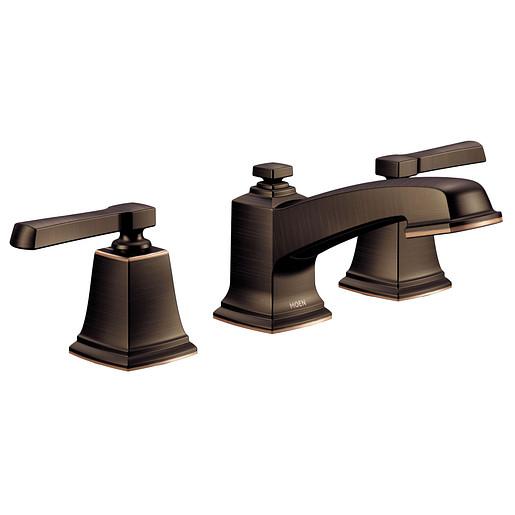 Boardwalk Mediterranean Bronze Two-Handle Bathroom Faucet