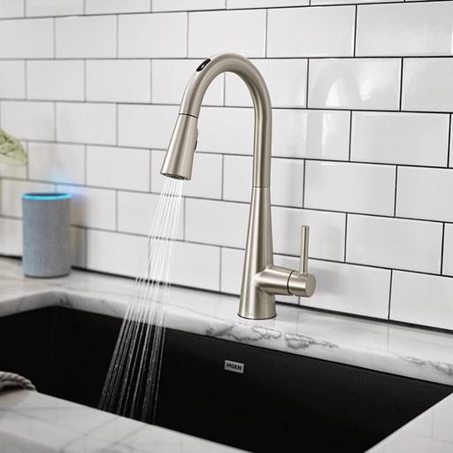 U by Moen™ Smart Faucet Sleek™ One-Handle Pulldown