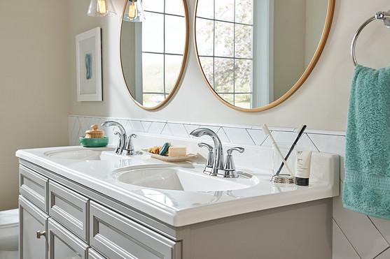 Create a focal point with your bathroom mirror
