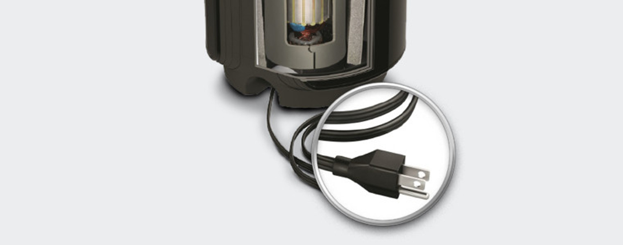 Pre-Installed Power Cord