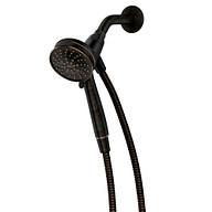 "Attract Mediterranean Bronze Six-Function 4"" Diameter Spray Head Handheld Shower"