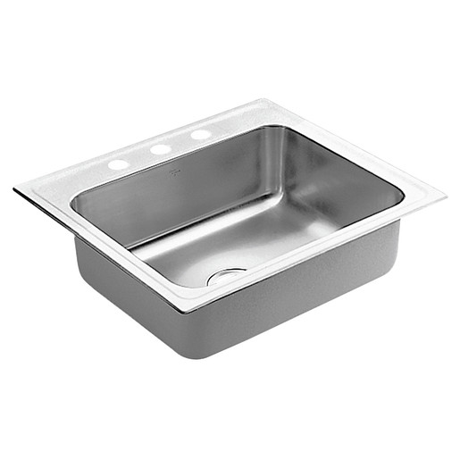 """Commercial 25""""x22"""" stainless steel 18 gauge single bowl sink"""