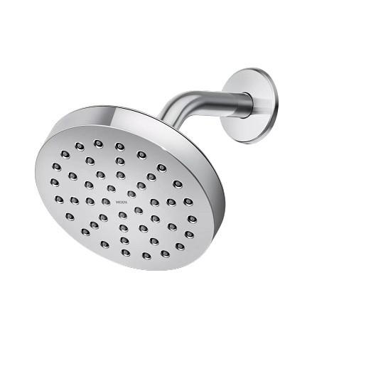 "Tital Chrome One-Function 6"" Diameter Eco-Performance Spray Head Rainshower"