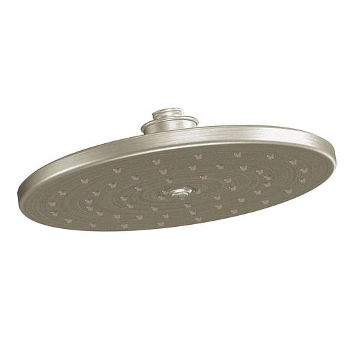 """Moen Brushed Nickel One-Function 10"""" Diameter Spray Head Eco-Performance Showerhead"""