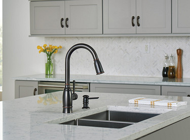 Noell Mediterranean Bronze Pulldown Kitchen Faucet 87791BRB