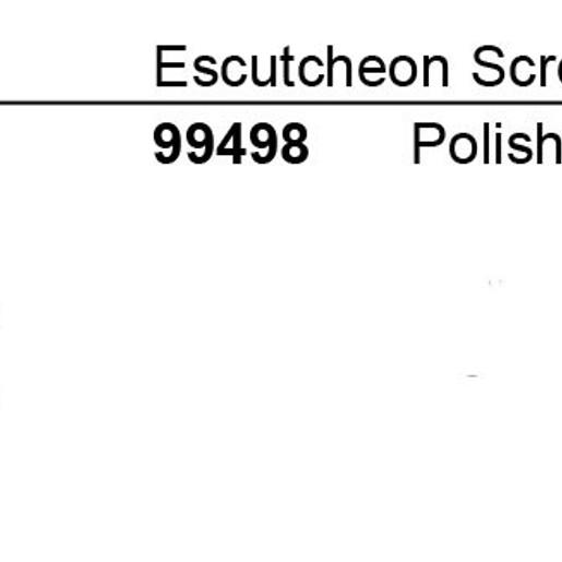 Escutcheon Screws for the Legend Collection Tub/Shower Escutcheon