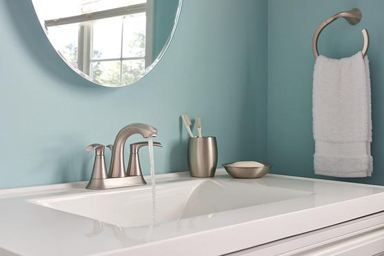 Graeden Centerset Spot Resist Brushed Nickel Faucet